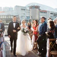 Courtney and Dan's Urban Rustic Themed Wedding at Steam Whistle Brewery