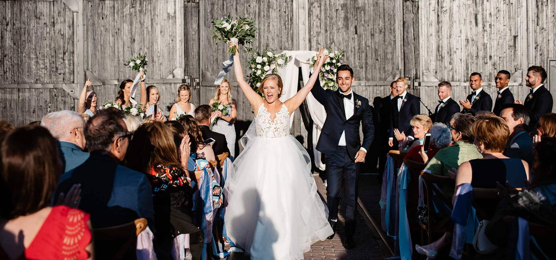 Hero image for Courtney and Dan's Urban Rustic Themed Wedding at Steam Whistle Brewery