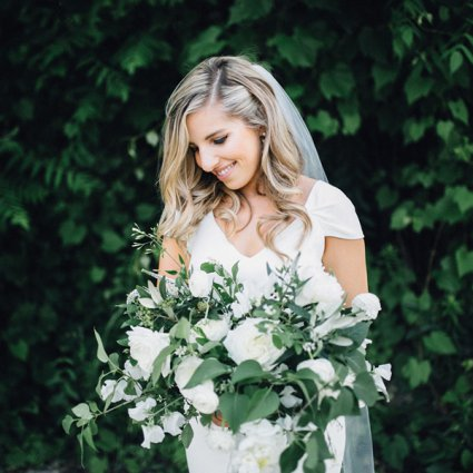 Sweet Woodruff featured in Karla and Kevin's Romantic Wedding at Evergreen Brick Works