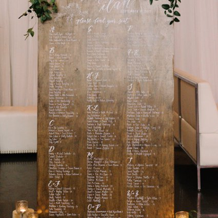 """The Lettering Studio featured in Laura and Ilan's """"Rustic Black Tie"""" Affair at York Mills Gallery"""
