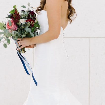 """Lea-Ann Belter Bridal featured in Laura and Ilan's """"Rustic Black Tie"""" Affair at York Mills Gallery"""