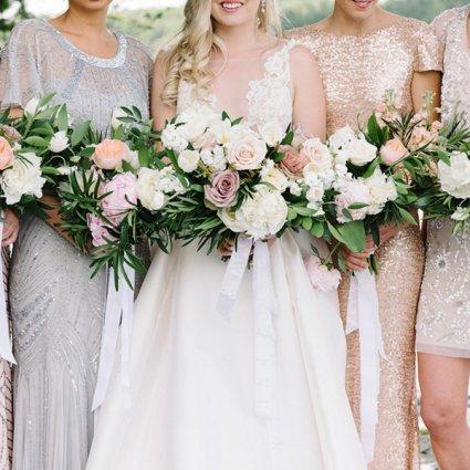 Tanya List Designs featured in Elynn and Joe's Elegant Garden Wedding at the Sherwood Inn