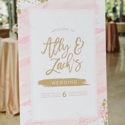 Paper & Poste featured in Ally and Zach's Lounge-Style Wedding at The Royal Conservator…