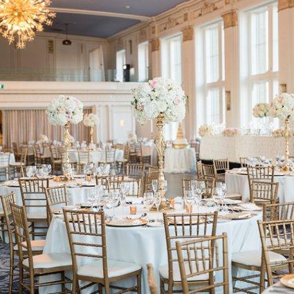 Flowers Time featured in Jackie and Keegan's Elegant King Edward Hotel Wedding