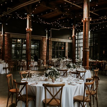 Steam Whistle Brewery featured in Adah and Phil's Rustically Romantic Wedding at the Steam Whistle