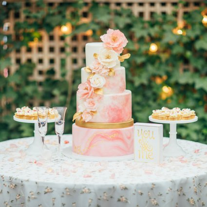 Joni and Cake featured in Candy and Tony's Magical Wedding at Madsen's Banquet Hall