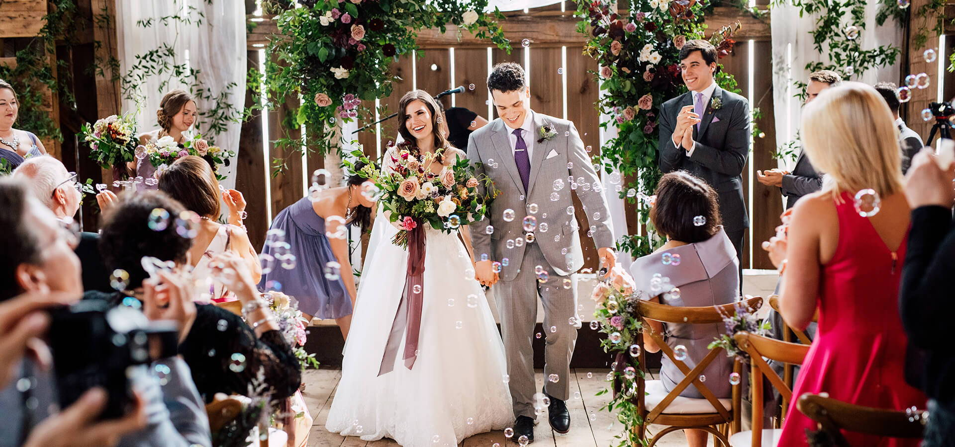 Hero image for Brittany and Mitch's Enchanting Wedding at Cambium Farms