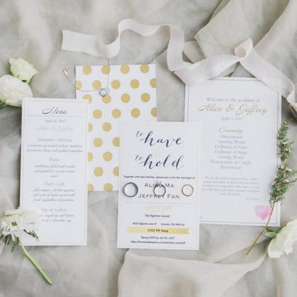 Ivory and Twine featured in Alice and Jeffrey's Magical Eglinton Grand Wedding