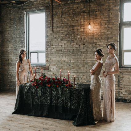 Coordinate This Design & Decor Inc. featured in A Moody Gothic-Glam Inspired Style Shoot