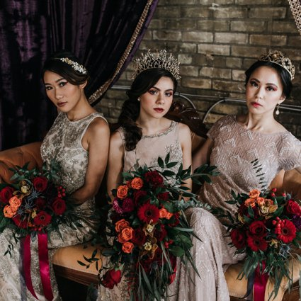 Beyond the Brush featured in A Moody Gothic-Glam Inspired Style Shoot