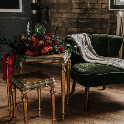 SS Wedding & Event featured in A Moody Gothic-Glam Inspired Style Shoot