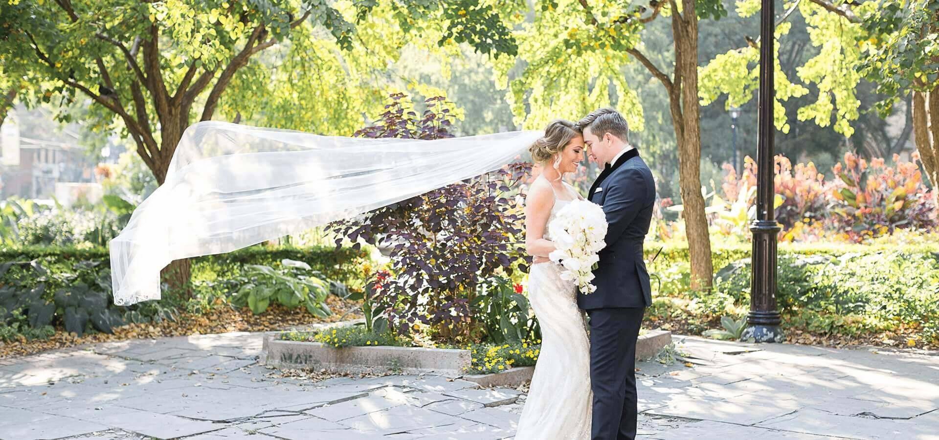 Hero image for Jackie and Keegan's Elegant King Edward Hotel Wedding