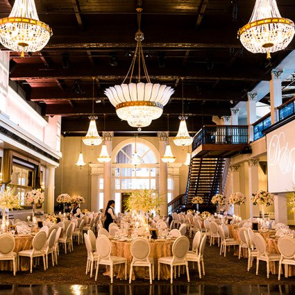 Liberty Grand Entertainment Complex featured in Dalia and Cameron's Elegant Liberty Grand Wedding