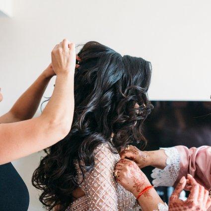 Rachel Renna featured in Rima and Tushar's Stunning 2-Day Toronto Wedding Celebration