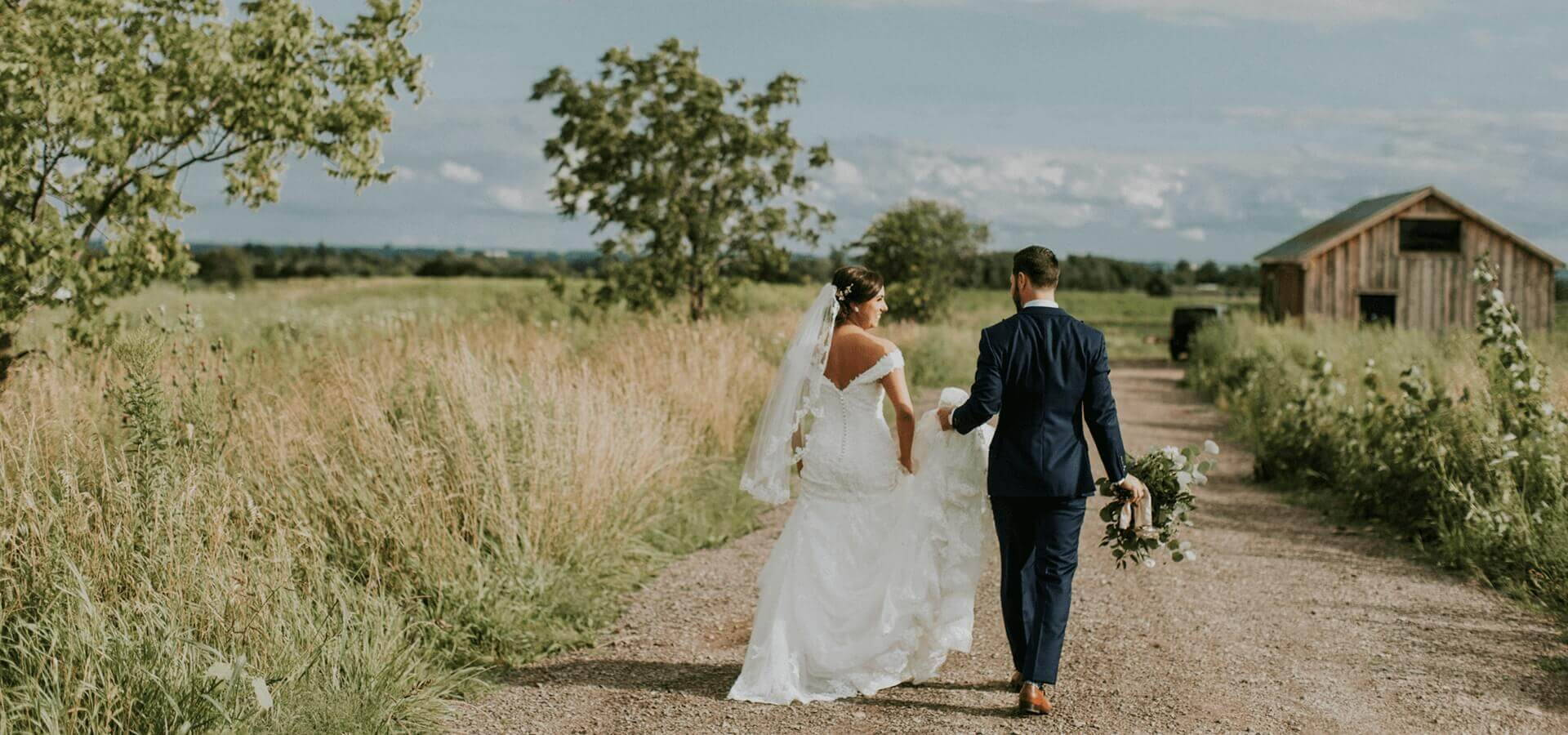 Hero image for Courtney and Nick's Elegant Barn Wedding at Earth to Table Farm