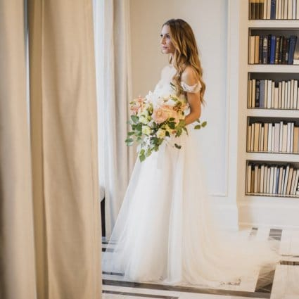 Stemz featured in Tali and Barry's Romantic Fall Wedding at York Mills Gallery