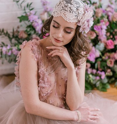 Make Me Over Makeup Artistry featured in An Incredibly Dreamy Mauve Inspired Styled Shoot