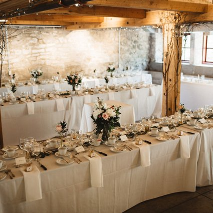 Tk's Catering featured in Julia and Josh's Relaxed Wedding at Alton Mill Arts Centre