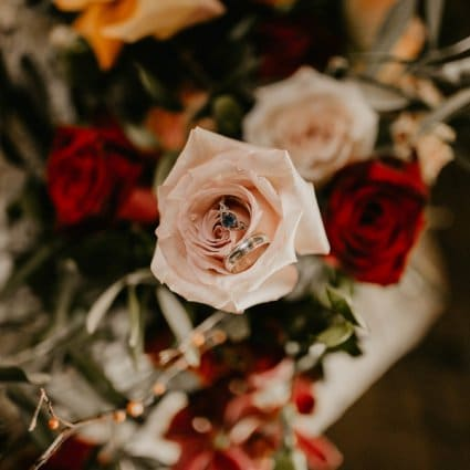 May Flowers featured in A Playfully Romantic Style Shoot at The Jam Factory