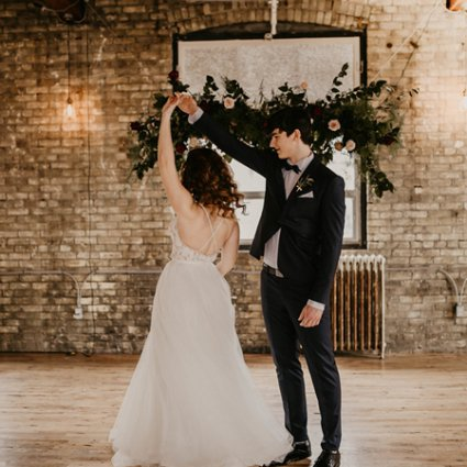 Open Sky Weddings featured in A Playfully Romantic Style Shoot at The Jam Factory