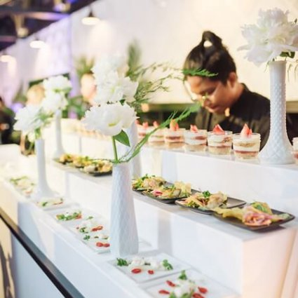 L-eat Catering featured in A Tasty Open House at Canvas Event Space