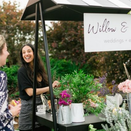 Fun Flower Stand featured in The 2018 Open House at Cambium Farms