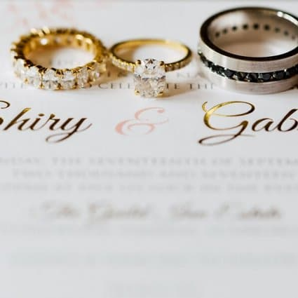 The Polka Dot Paper Shop featured in Shiry and Gabe's Romantic Wedding at the Guild Inn Estate