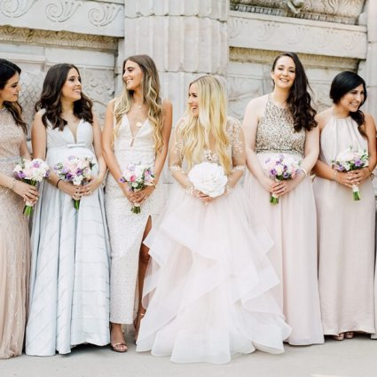 Pearl Bridal House featured in Shiry and Gabe's Romantic Wedding at the Guild Inn Estate