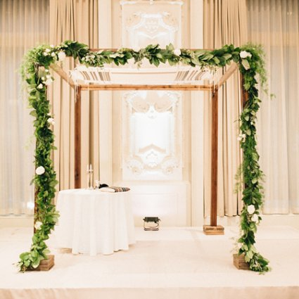 chuppah.ca featured in Daniel and Jonathan's Classically Elegant Big Day at the King…