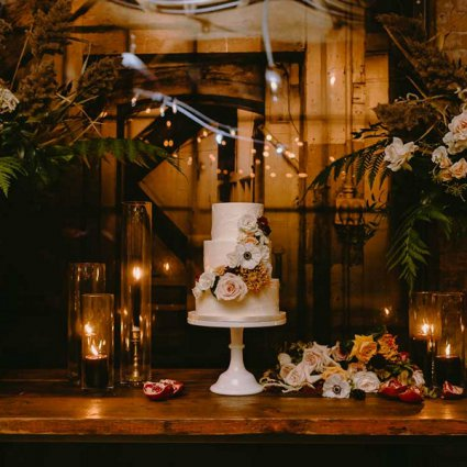 The Bake Shoppe featured in Bec and Jen's Romantic Intimate Wedding at Archeo