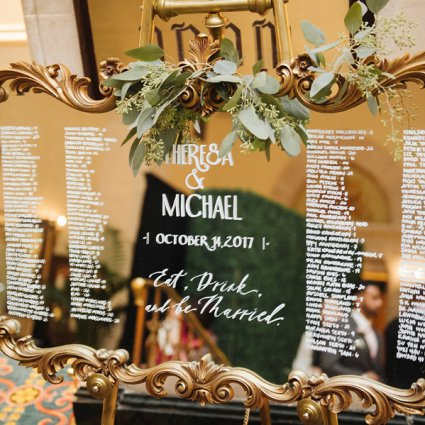 Southern Charm Vintage Rentals featured in Theresa and Michael's Classically Elegant Wedding at The Fair…