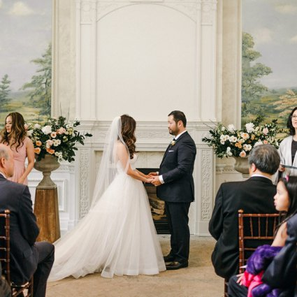 The Marrying Lady featured in Olivia and Richard's Whimsical Wedding at Graydon Hall