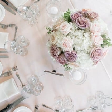 """Around the Table featured in Nicole and Adam's """"Chic Soiree"""" at The Doctor's House"""