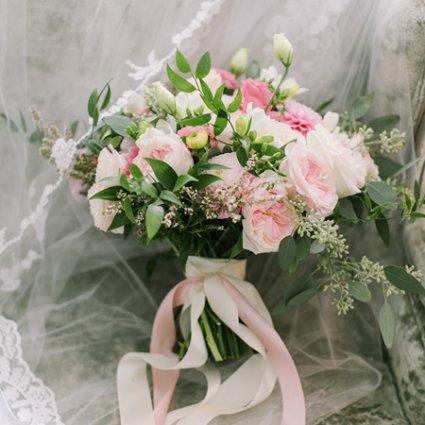 Coquette Studio Floral Design featured in Lena and Matt's Super Sweet Wedding at Graydon Hall