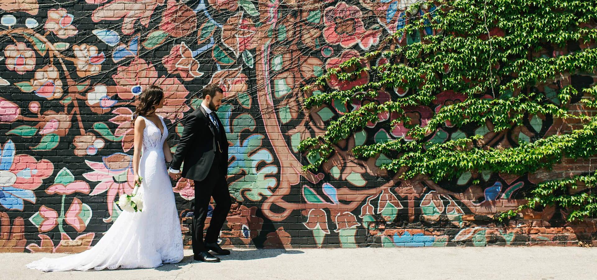 Hero image for Jayme and Kyle's Modern City Wedding at 99 Sudbury