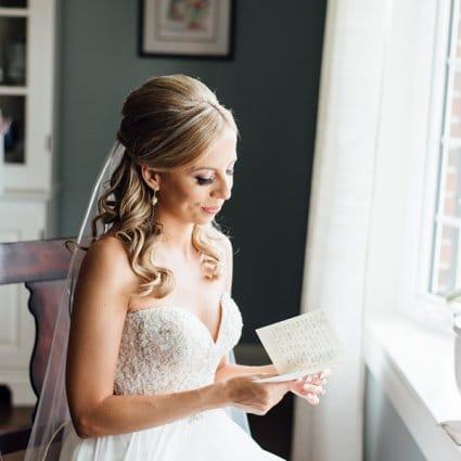 Felichia Bridal featured in Kasia and Kiarash's Romantic Wedding at The Manor
