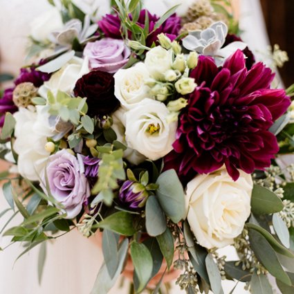 Coquette Studio Floral Design featured in Nicole and Nate's Ultra Sweet Wedding at the Storys Building