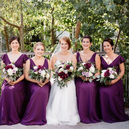 Jealous Bridesmaids featured in Nicole and Nate's Ultra Sweet Wedding at the Storys Building