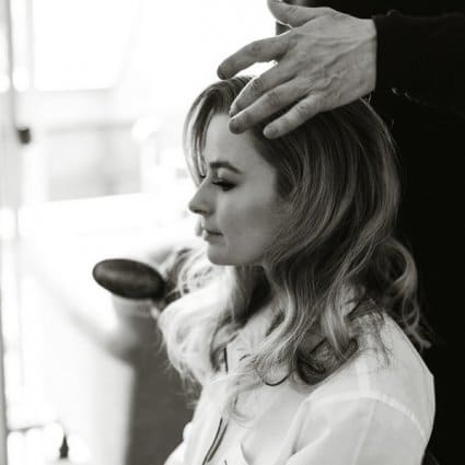 Dawna Boot Makeup featured in Elly and Peter's Stunning Wedding at Langdon Hall