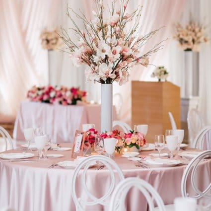 Rose Petal Decor featured in Monica and Garros' Glam Modern Day Wedding at the Shangri-La