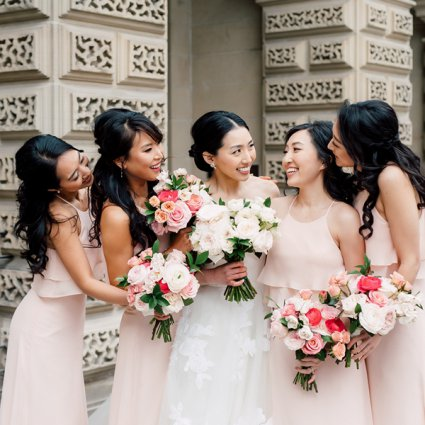 DeLight Floral + Design featured in Monica and Garros' Glam Modern Day Wedding at the Shangri-La