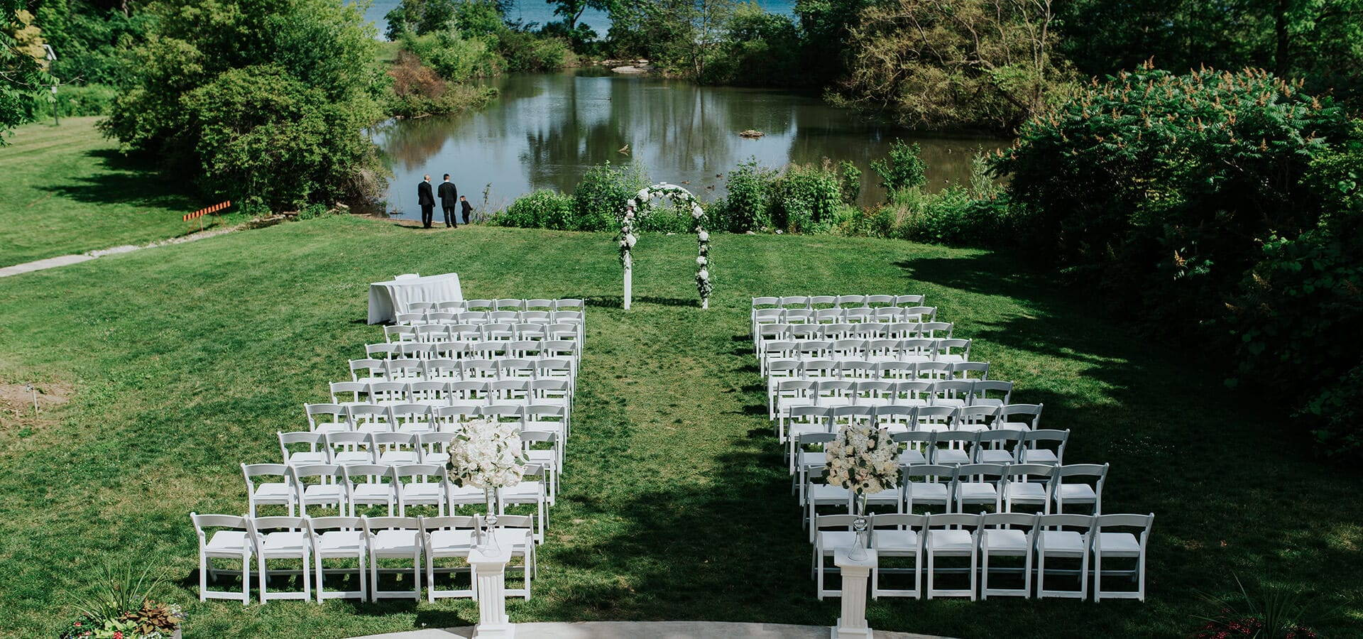 Hero image for Laura and Gary's Summer Wedding at Harding Waterfront Estate