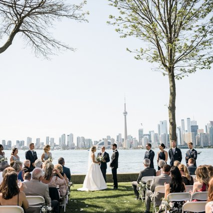 Ceremonies With Choice featured in Julie and Darren's Perfect Summer Wedding at the Royal Canadi…