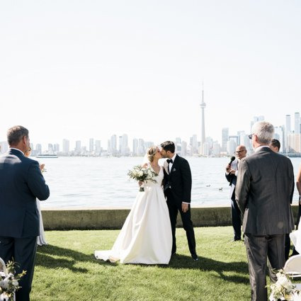 Royal Canadian Yacht Club featured in Julie and Darren's Perfect Summer Wedding at the Royal Canadi…