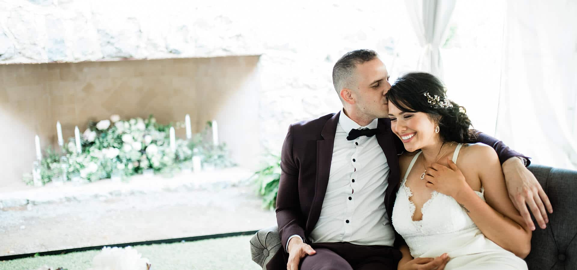 Hero image for Calliope and Jacob's Intimate Wedding at Knollwood Golf and Country Club