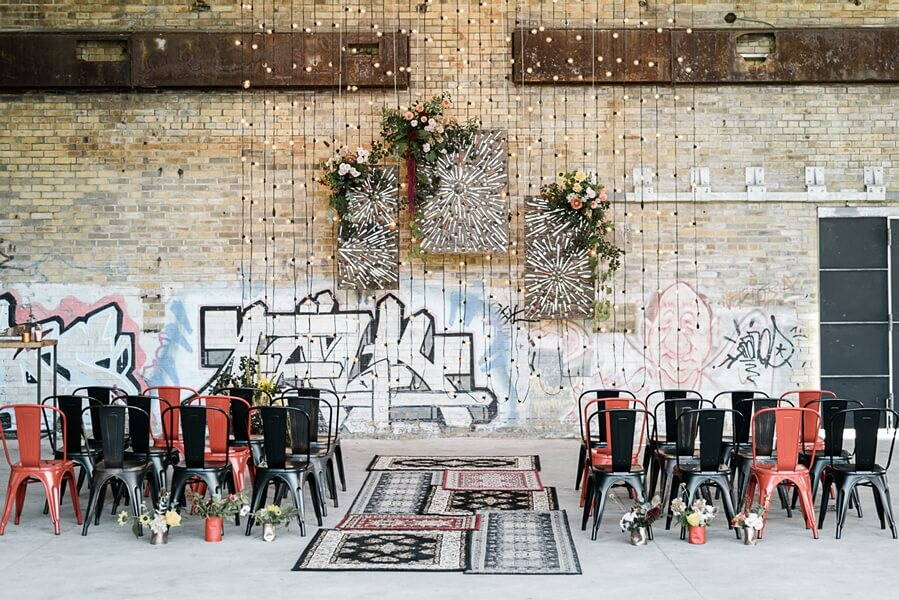lbl and drake catering present evergreen brick works pop up chapel, 1