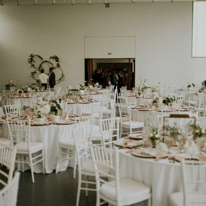 Bash Panache featured in Marnie and Jake's Gorgeous Art Gallery Wedding