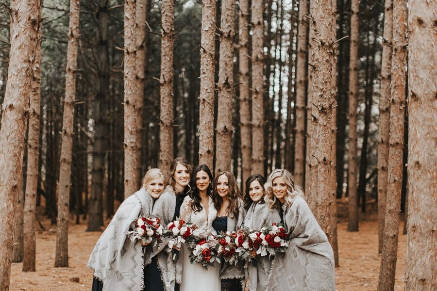 cozy fall wedding