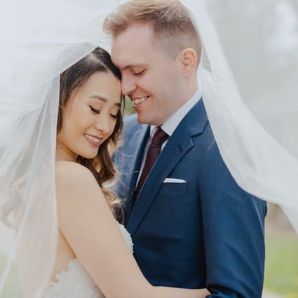 Ford Beauty featured in Steph + Ben's Pretty Pastel Wedding at the Guild Inn Estate