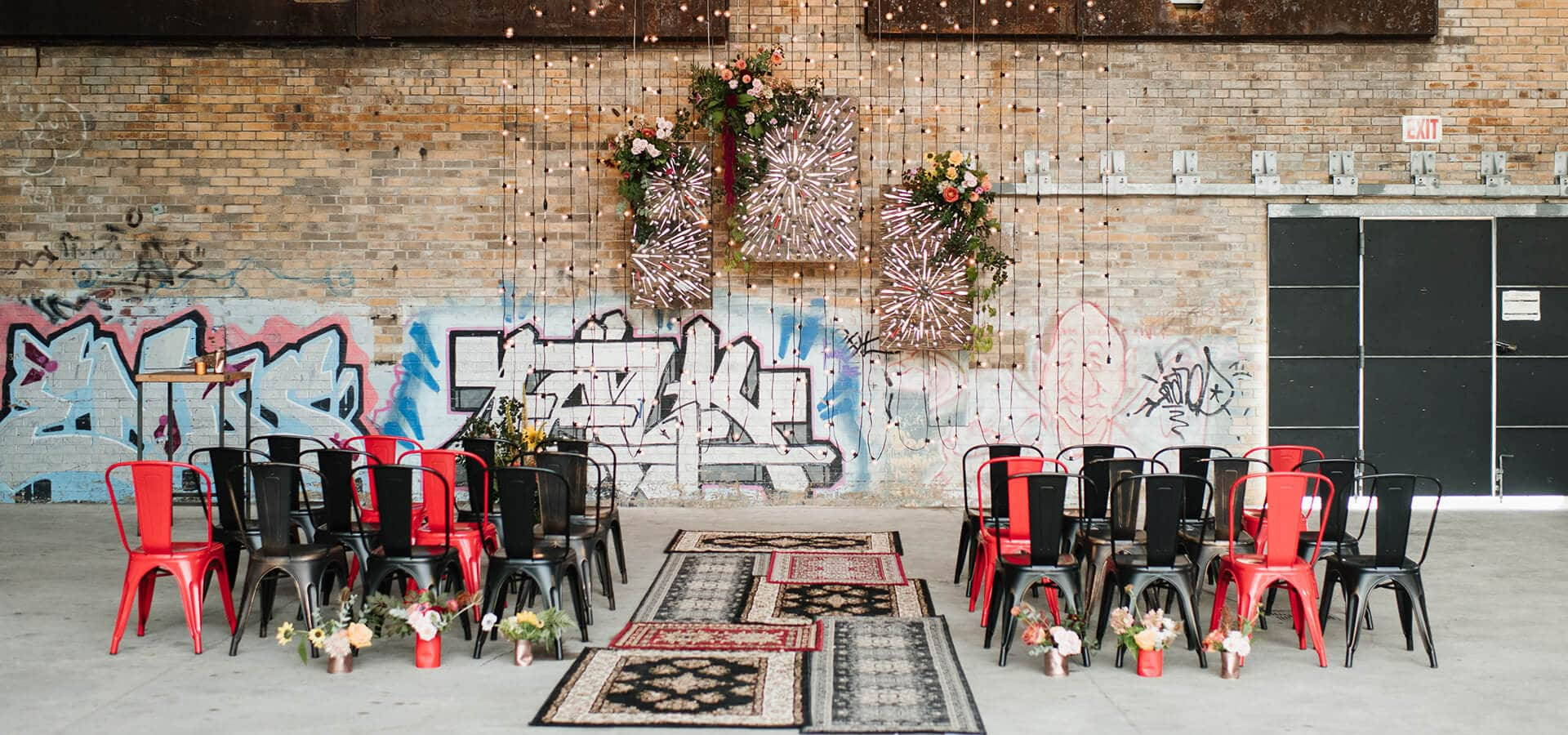 Hero image for Love by Lynzie and Drake Catering Present: A Stunning Pop-Up Chapel at Evergreen Brick Works